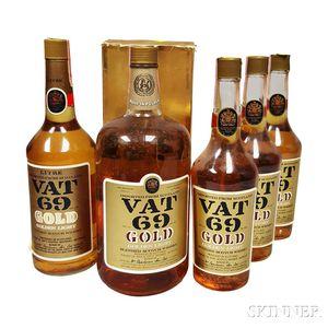 Vat 69 Gold, 5 bottles
