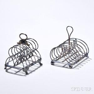 Two George III Sterling Silver Toast Racks