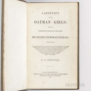 Stratton, Royal B. (d. 1875) Captivity of the Oatman Girls: Being an Interesting Narrative of Life among the Apache and Mohave Indians.