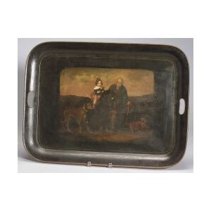 Large Painted Tole Tray