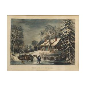 Currier & Ives, publishers (American, 1857-1907)  THE SNOW STORM.
