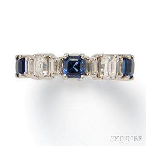 Platinum, Sapphire, and Diamond Eternity Band
