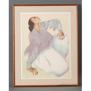 R.C. Gorman (American, 1931-2005)      Indiginous Woman