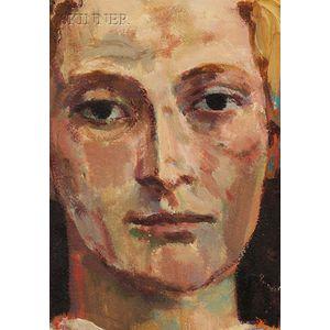 Arthur Polonsky (American, b. 1925)      Portrait of a Head