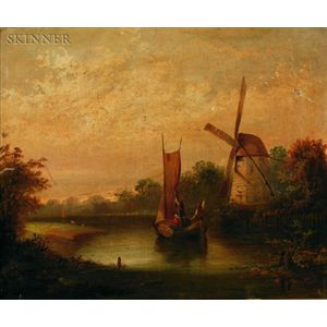 Dutch School, 19th Century    Traveling Down the River