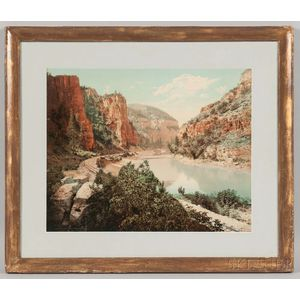 William Henry Jackson (American, 1843-1942)      Echo Cliffs, Grand River Canon, Colorado