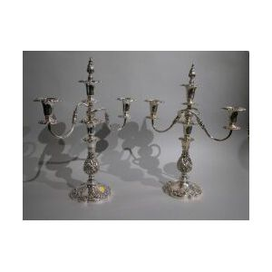 Pair of Silver Plated Candelabra.