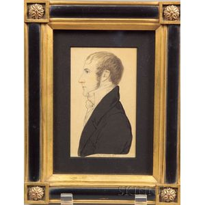 William Russel Birch (Anglo/American, 1755-1834)    Portait of Mr. Reed Williams.