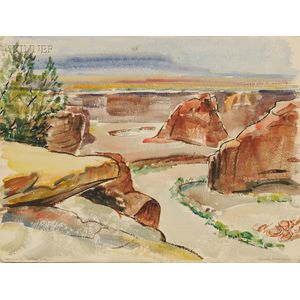 Edna W. Lawrence (American, 1898-1987)      Canyon de Chelly, Arizona