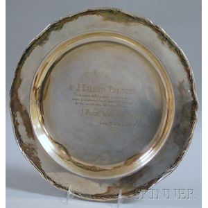 Camusso Peruvian Sterling Silver Round Presentation Charger