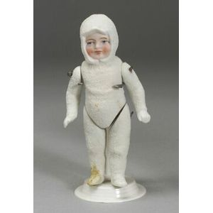 Lot of Eight All-Bisque, Composition and Cloth Dolls