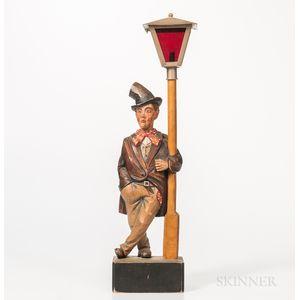 Carved German Whistler