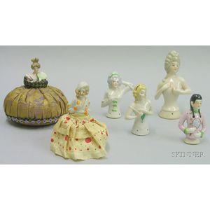 Six China Half Dolls