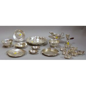 Approximately Twenty-eight Sterling Silver Serving Items