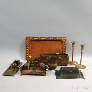Ten Pieces of Assorted Brass and Copper