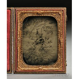 Pro-Slavery Ambrotype of a Political Cartoon, The Root of All Evil
