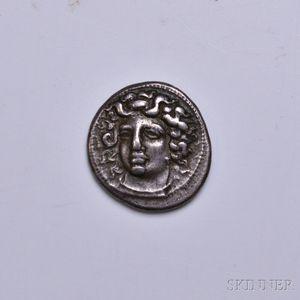 Greek Larissa Drachm.     Estimate $200-400