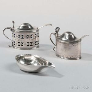 Three George III Sterling Silver Items
