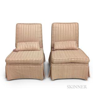 Two Dunbar Slipper Chairs