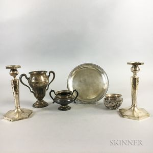 Six Pieces of Sterling Silver Tableware