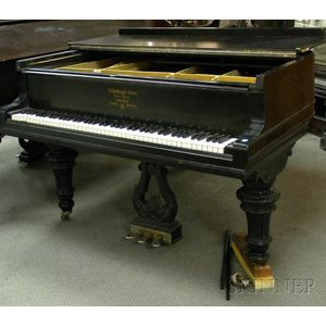 Steinway & Son Black Lacquer Baby Grand Piano