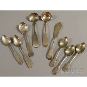 Nine Silver Table and Serving Items