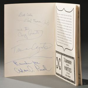 Celebrity Signatures: Paul Newman (1925-2008), Cary Grant (1904-1986), Truman Capote (1924-1984), and Adam Clayton Powell Jr. (1908-197