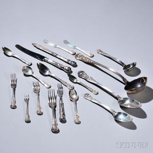 Assembled English Sterling Silver Flatware Service