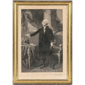 Framed I. Cary Print of George Washington