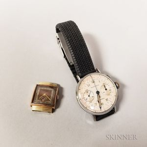 Longines Art Deco 14kt Gold Wristwatch and a Chronograph