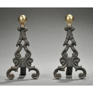 Pair of Miniature Andirons