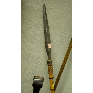 African Iron and Bamboo Spear.