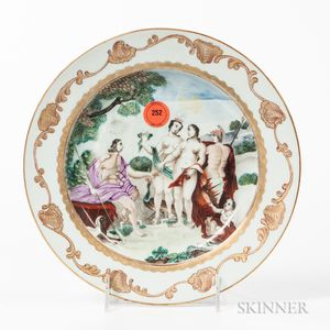 "Export Porcelain ""Judgment of Paris"" Plate"