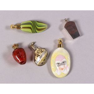 Five Whimsical Miniature Scent Vials