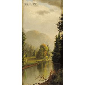 Levi Wells Prentice (American, 1851-1935)      River Landscape