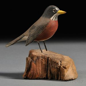 Jess Blackstone Miniature Carved and Painted Robin Figure