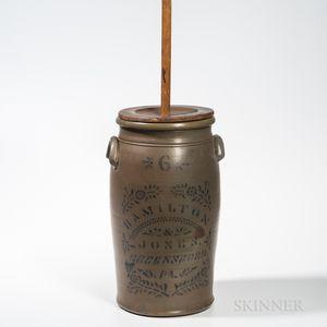 Six-gallon Stoneware Churn