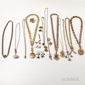Group of Victorian Gold-filled Jewelry