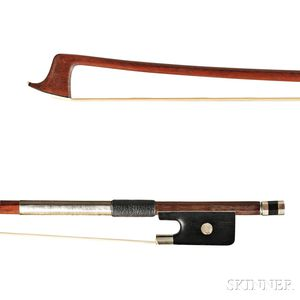 Nickel Silver-mounted Violin Bow, E.F. OUCHARD