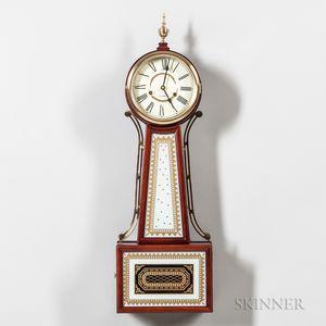 "Modern Striking ""Banjo"" Wall Clock"
