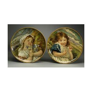 Important Pair of Minton Earthenware Chargers