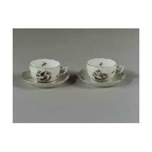 """Group of Herend Porcelain """"Rothschild Oiseaux"""" Pattern Cups and Saucers"""