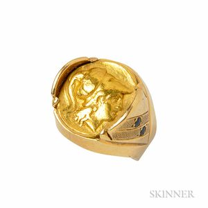 Gold Coin Ring