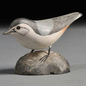Jess Blackstone Miniature Carved and Painted Nuthatch Figure