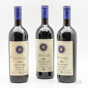 Tenuta San Guido Sassicaia 1985, 3 bottles