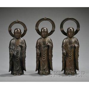 Three Bronze Monks