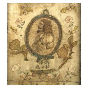 Charles I Needlework Picture