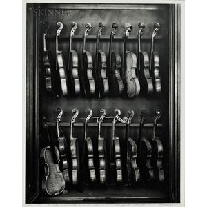 Arnold Newman (American, 1918-2006)      Violins, Philadelphia