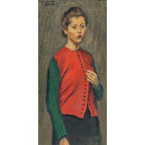 Raphael Soyer (American, 1899-1987)      Red Jacket