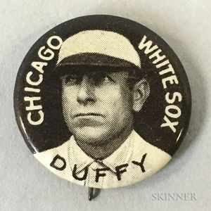 1910-1912 Hugh Duffy Sweet Caporal Pin.     Estimate $100-200